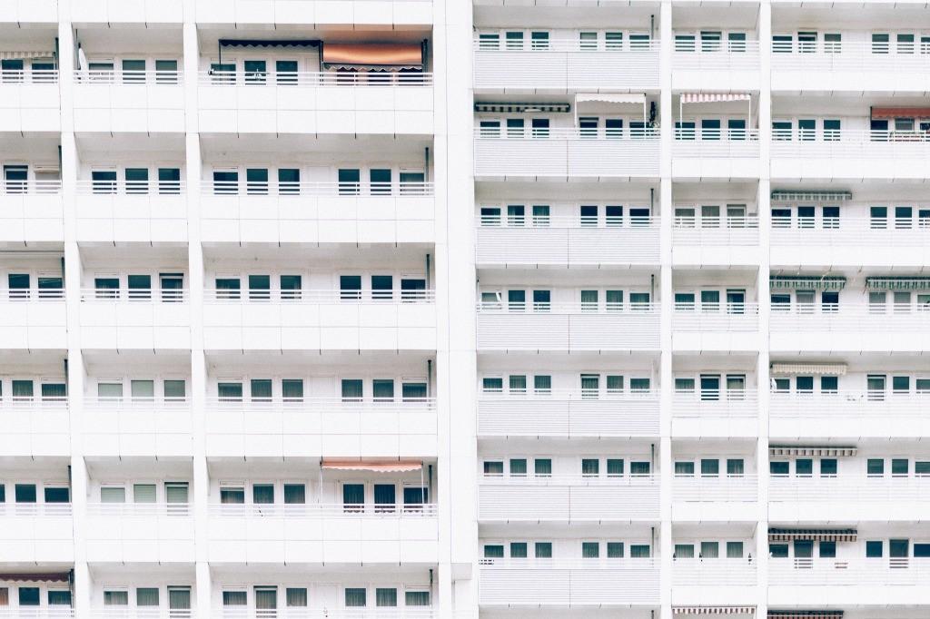 同じように見えるマンション