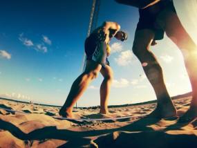 セブ島でビーチバレー