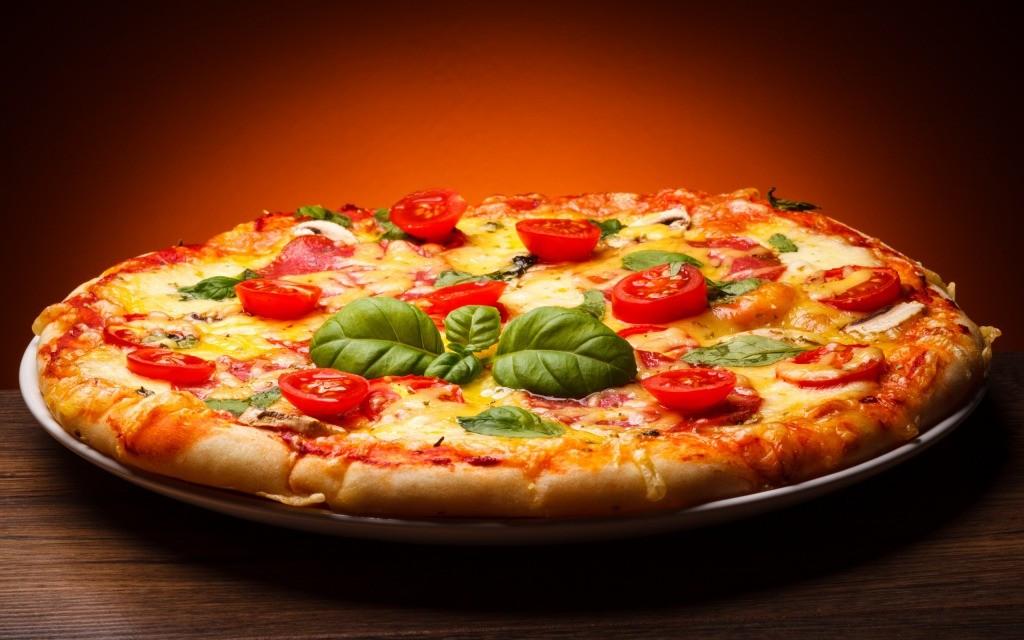 ピザを食べた