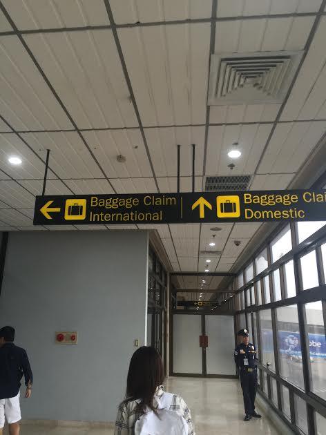 Baggage Claim Internationalの方に進みます。
