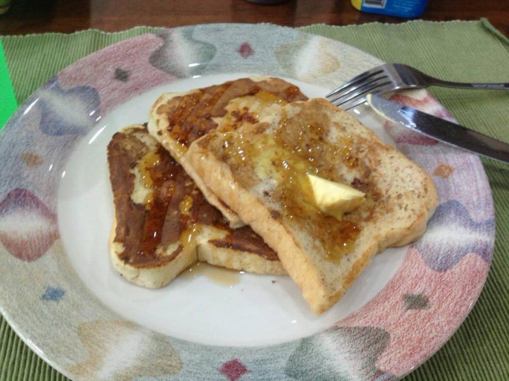ホームステイの朝食