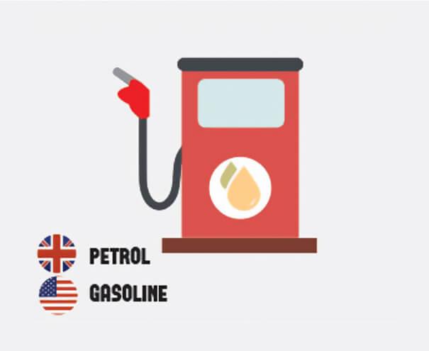 イギリス英語とアメリカ英語の違いガソリン
