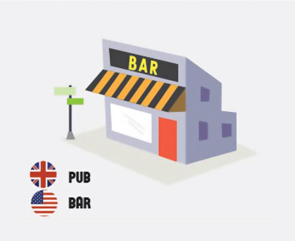 イギリス英語とアメリカ英語の違い バー