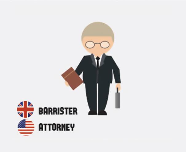 イギリス英語とアメリカ英語の違い、弁護士