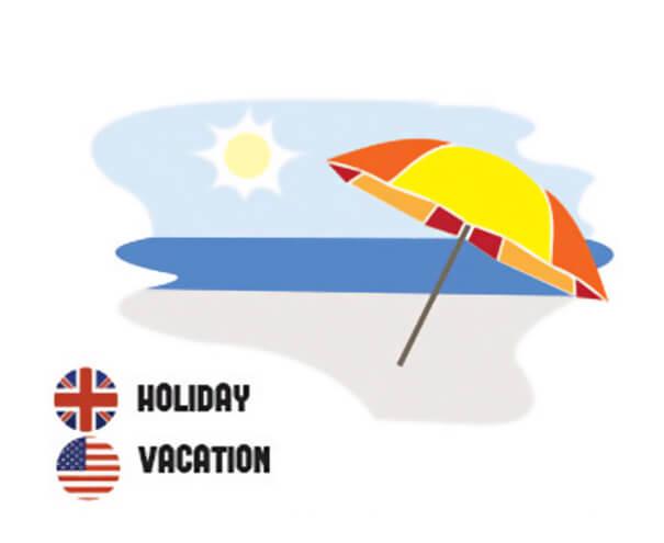 イギリス英語とアメリカ英語の違い 休暇