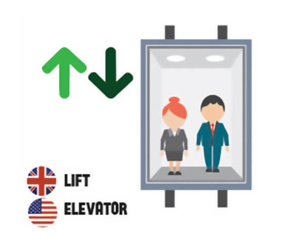 イギリス英語とアメリカ英語の違い エレベーター