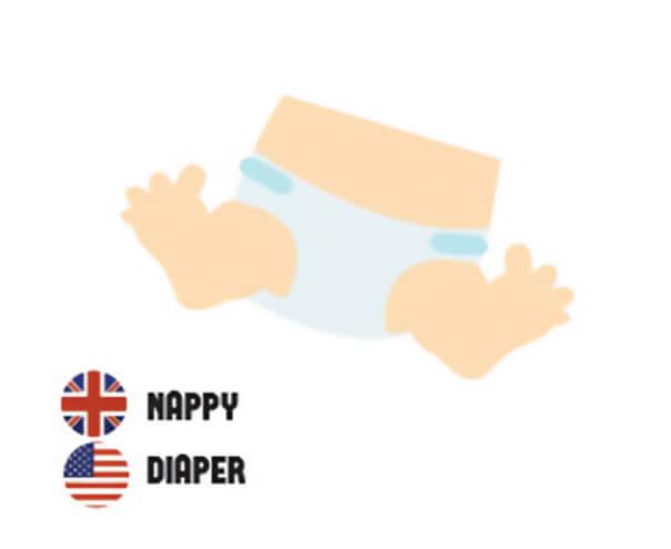 イギリス英語とアメリカ英語の違いおむつ