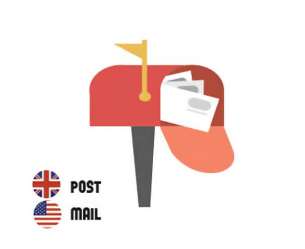 イギリス英語とアメリカ英語の違い、メールボックス