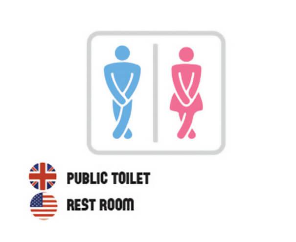 イギリス英語とアメリカ英語の違いトイレ