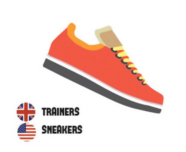 イギリス英語とアメリカ英語の違いスニーカー