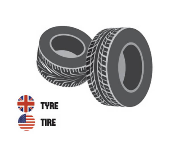 イギリス英語とアメリカ英語の違い、車のタイヤ