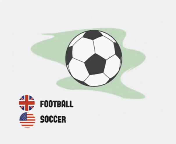 イギリス英語とアメリカ英語の違いサッカー