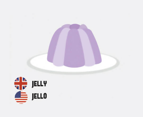 イギリス英語とアメリカ英語の違いゼリー