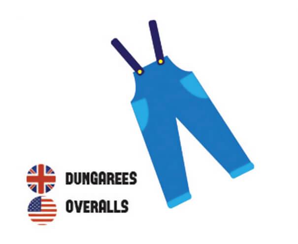 イギリス英語とアメリカ英語の違い、オーバーオール