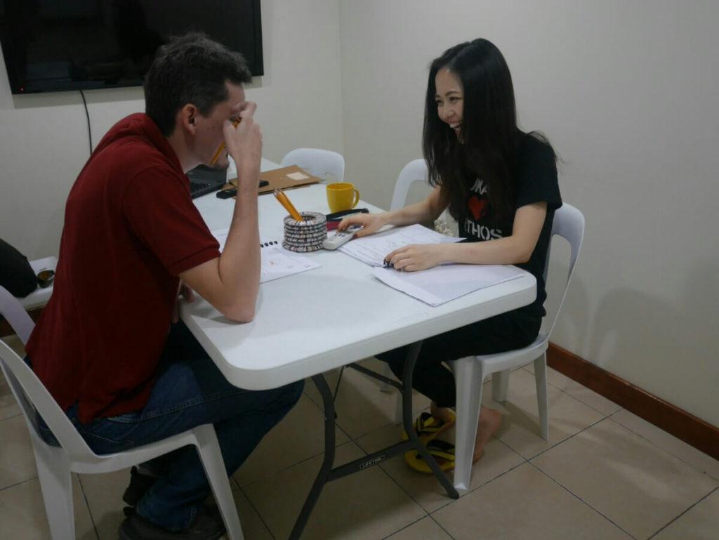 フィリピン留学アメリカ人とマンツーマン
