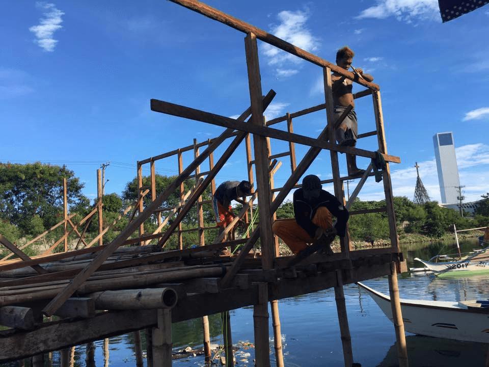 バジャウ族のゲストハウス建設状況
