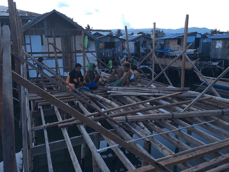 バジャウ族のゲストハウス建設の近況報告
