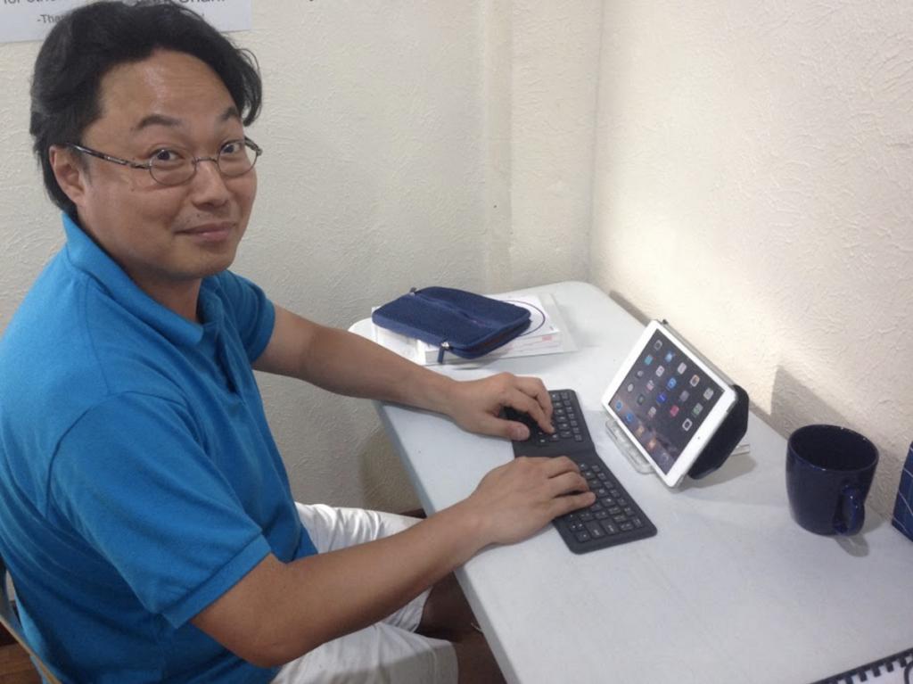 ETHOSに留学していただいたユウイチさん。今回は帰国後に受けられる英語検定の対策の為、ETHOSでは主にライティングを勉強されました。