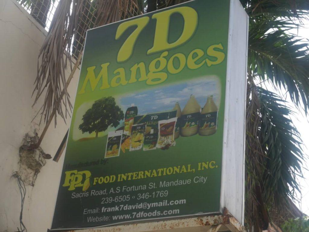 7Dマンゴーの看板