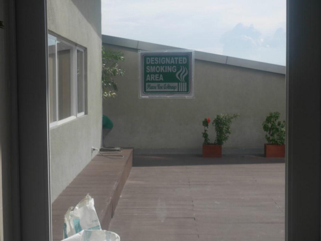セブ島東横インの喫煙スペース