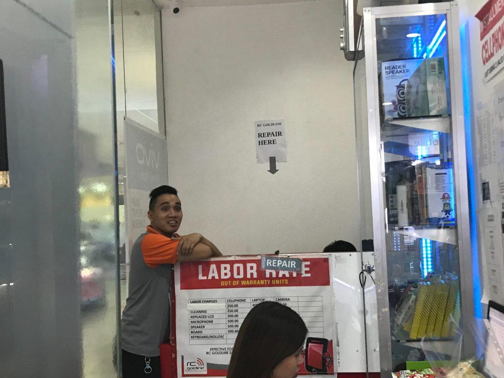 携帯修理のプロの場所