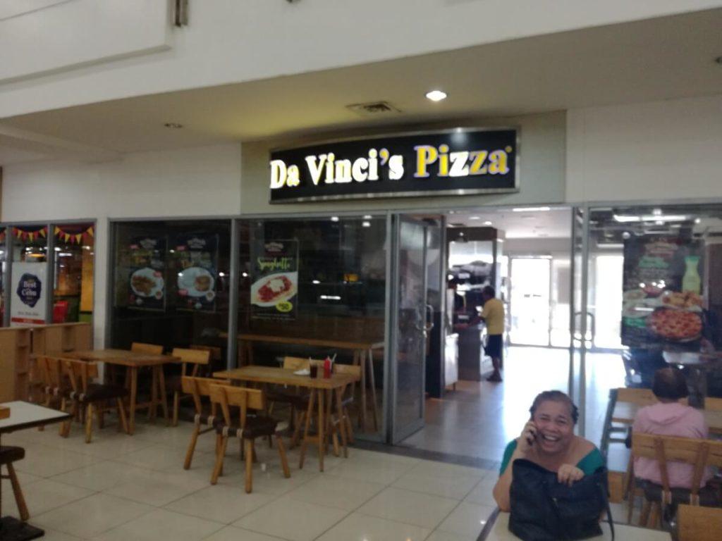 ダビンチピザの外観