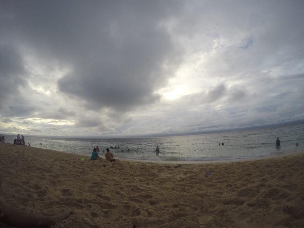 ホワイトビーチの夕日