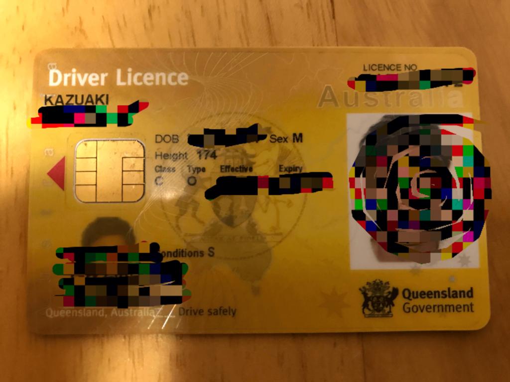 オーストラリアの免許証
